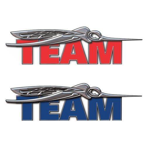 team domed decal