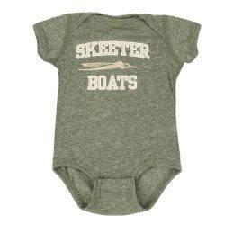 SKEETER INFANT MILITARY GREEN BODYSUIT