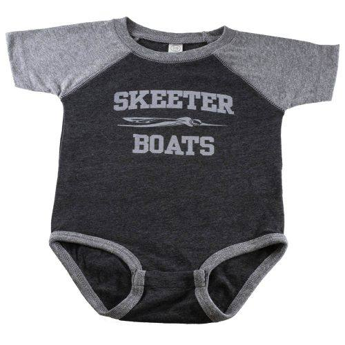 GREY SKEETER INFANT BODYSUIT